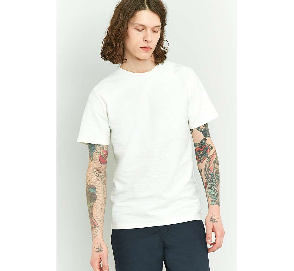 Slide View: 6: Native Youth Bembridge Off-White Slub T-shirt