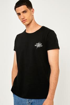 Cheap Monday Small Bolt Black T-shirt, BLACK