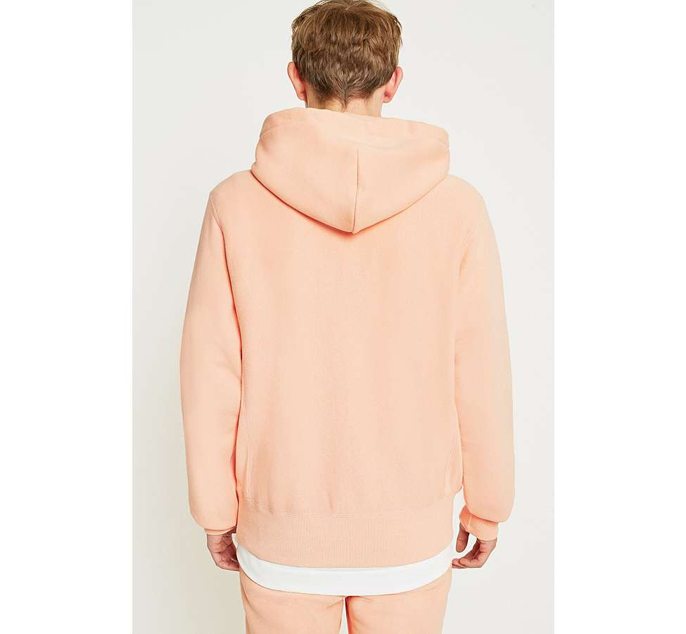 Slide View: 4: Champion Peach Reverse Weave Hoodie