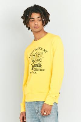 Levis Records Solar Yellow Crewneck Sweatshirt Yellow
