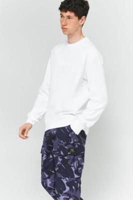 Nike SB White Everett Crewneck Sweatshirt, WHITE