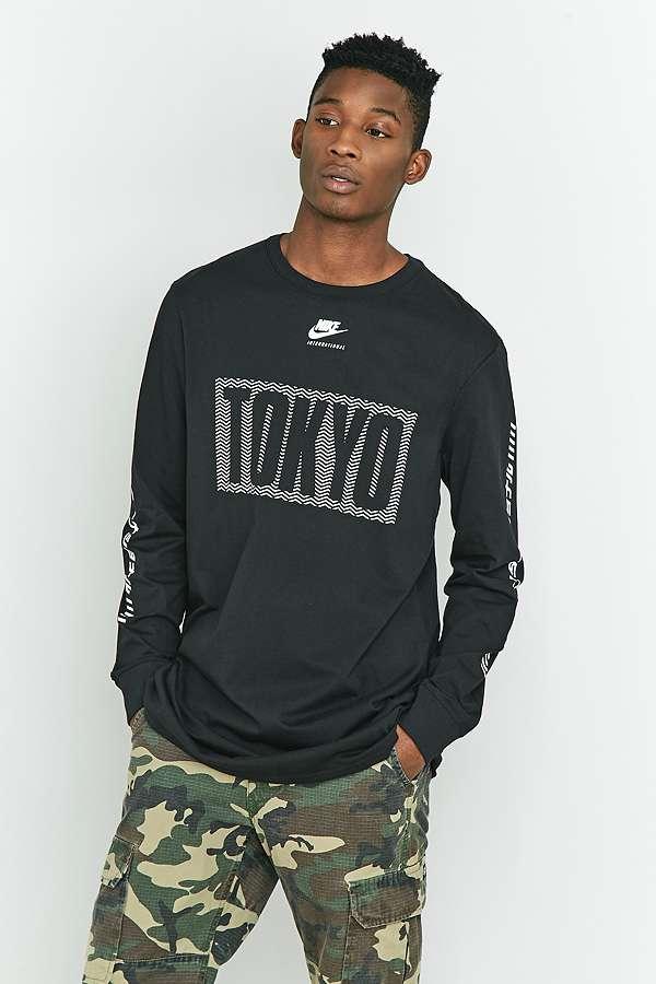 Slide View: 1: Nike T shirt International Tokyo à manches longues noir