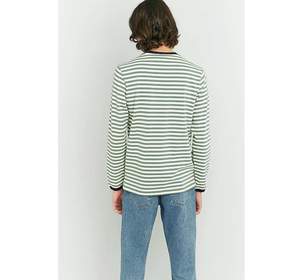 Slide View: 4: Farah Ally Palm Striped Long Sleeve T-shirt