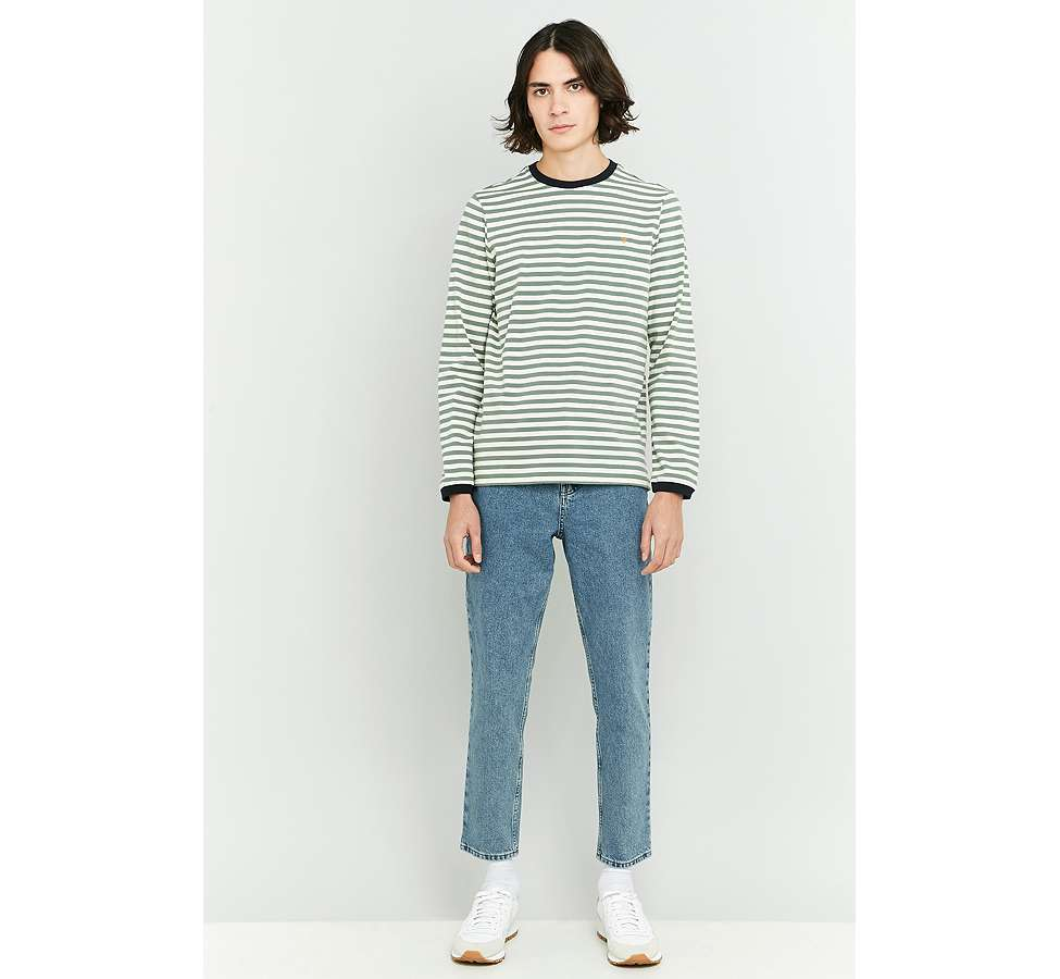 Slide View: 5: Farah Ally Palm Striped Long Sleeve T-shirt