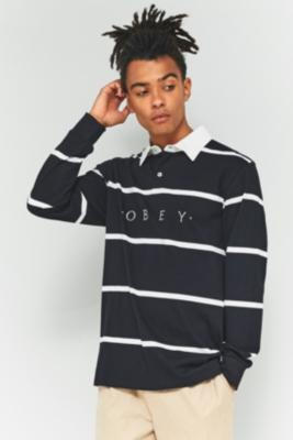 Obey Bridgewater Black Long Sleeve Polo Shirt by Obey