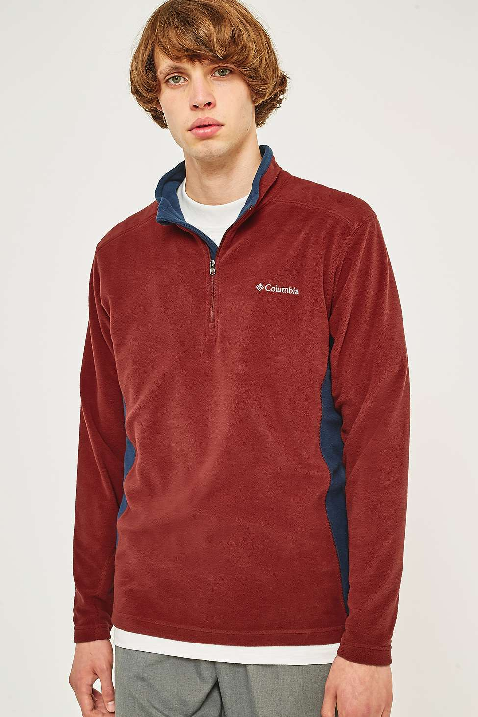 Columbia Klamath Rust Fleece Pullover Jacket | Urban Outfitters