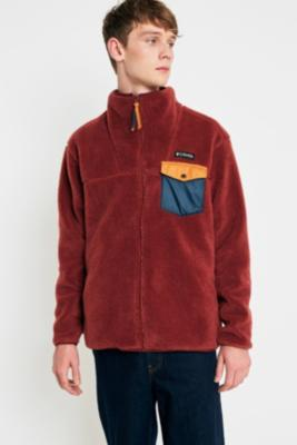 Columbia Mt. Tabor Maroon Pocket Fleece Jacket by Urban Outfitters