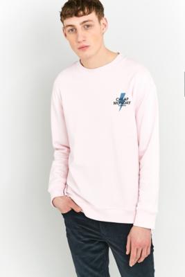 Cheap Monday Victory Small Bolt Pink Sweatshirt, PINK