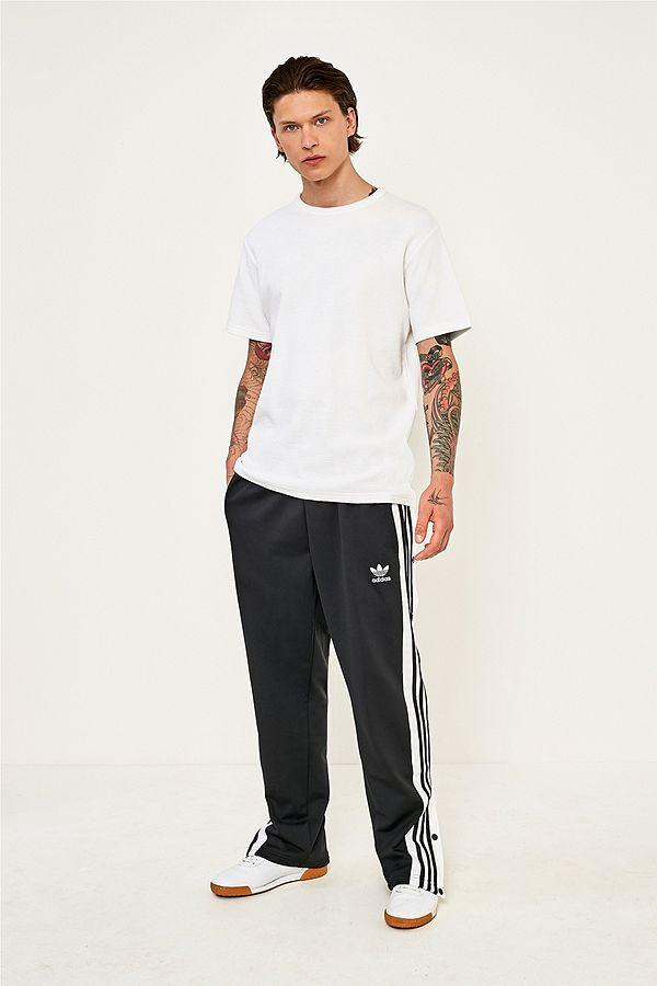 adidas Black Adibreak Popper Track Pants  ca0556842085