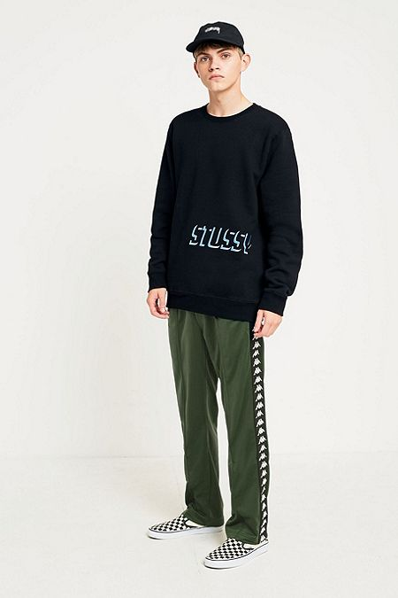Urban Renewal Black Vintage Originals One of a kind Adidas Popper Sweatshirt