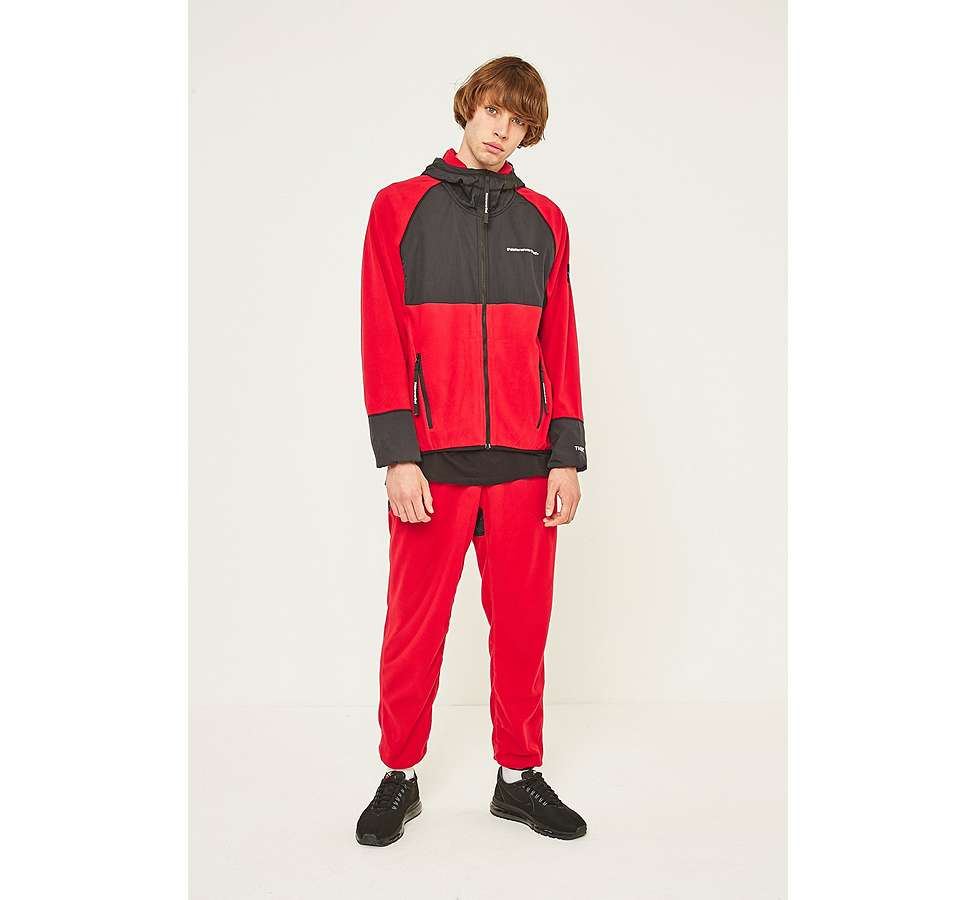 Slide View: 1: thisisneverthat Red and Black SP-Fleece Trousers