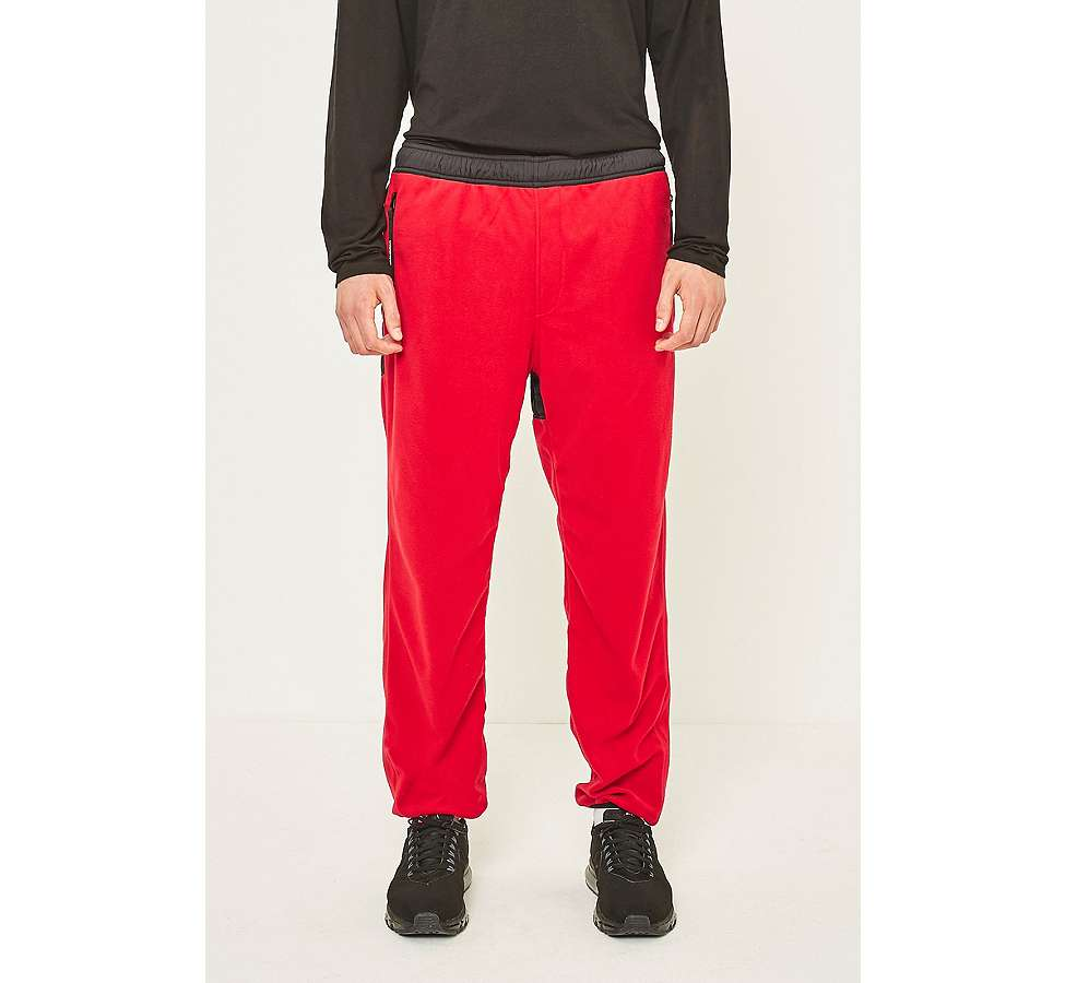 Slide View: 2: thisisneverthat Red and Black SP-Fleece Trousers
