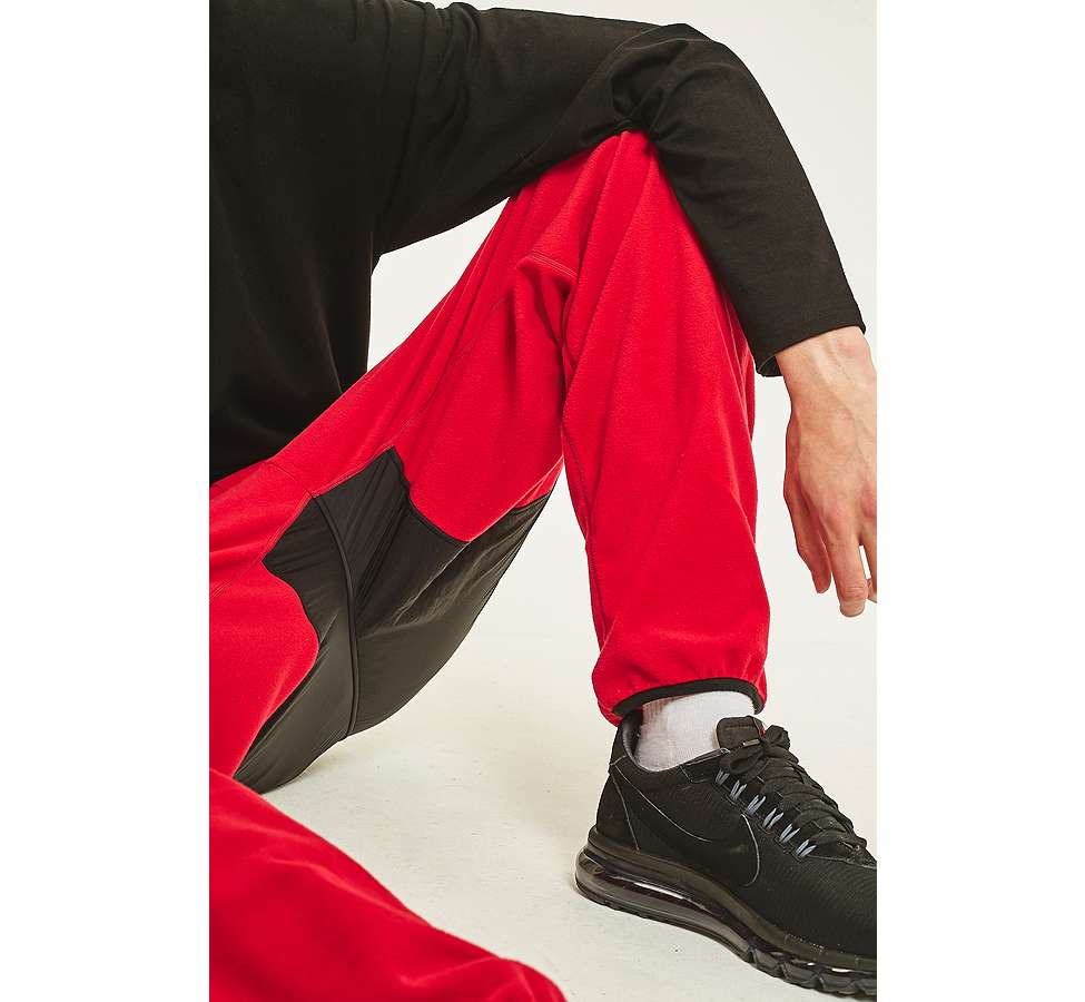 Slide View: 3: thisisneverthat Red and Black SP-Fleece Trousers