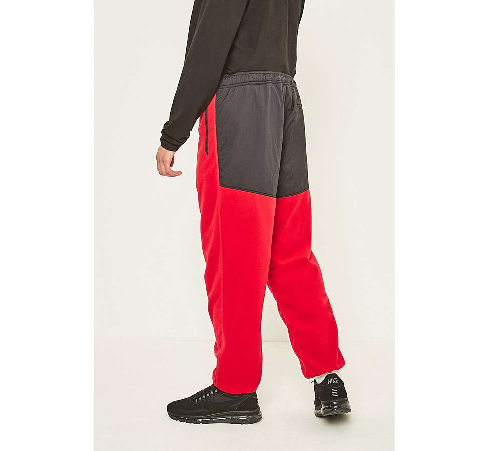 Slide View: 4: thisisneverthat Red and Black SP-Fleece Trousers