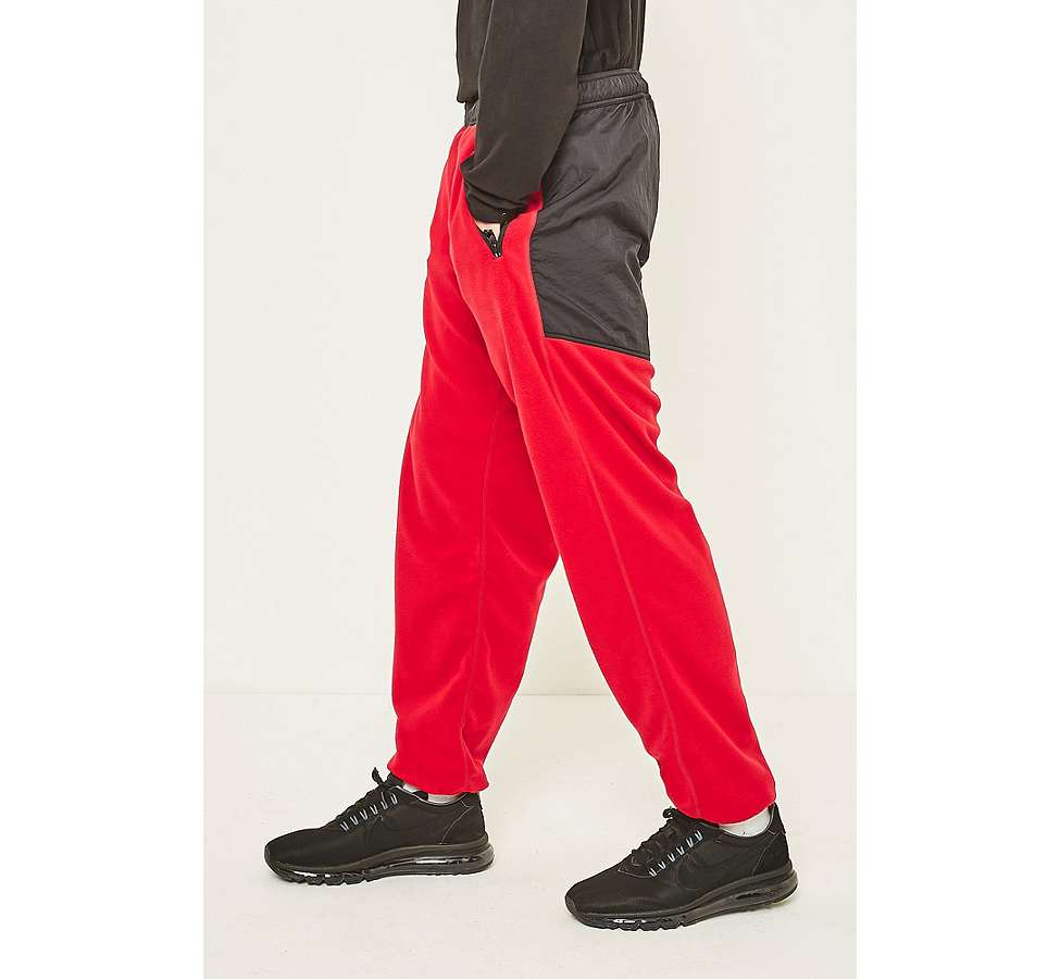 Slide View: 5: thisisneverthat Red and Black SP-Fleece Trousers