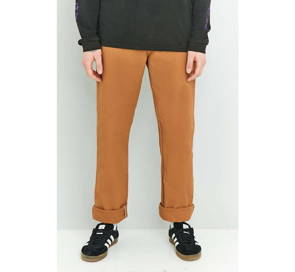 Slide View: 2: Dickies - Pantalon style charpentier marron canard