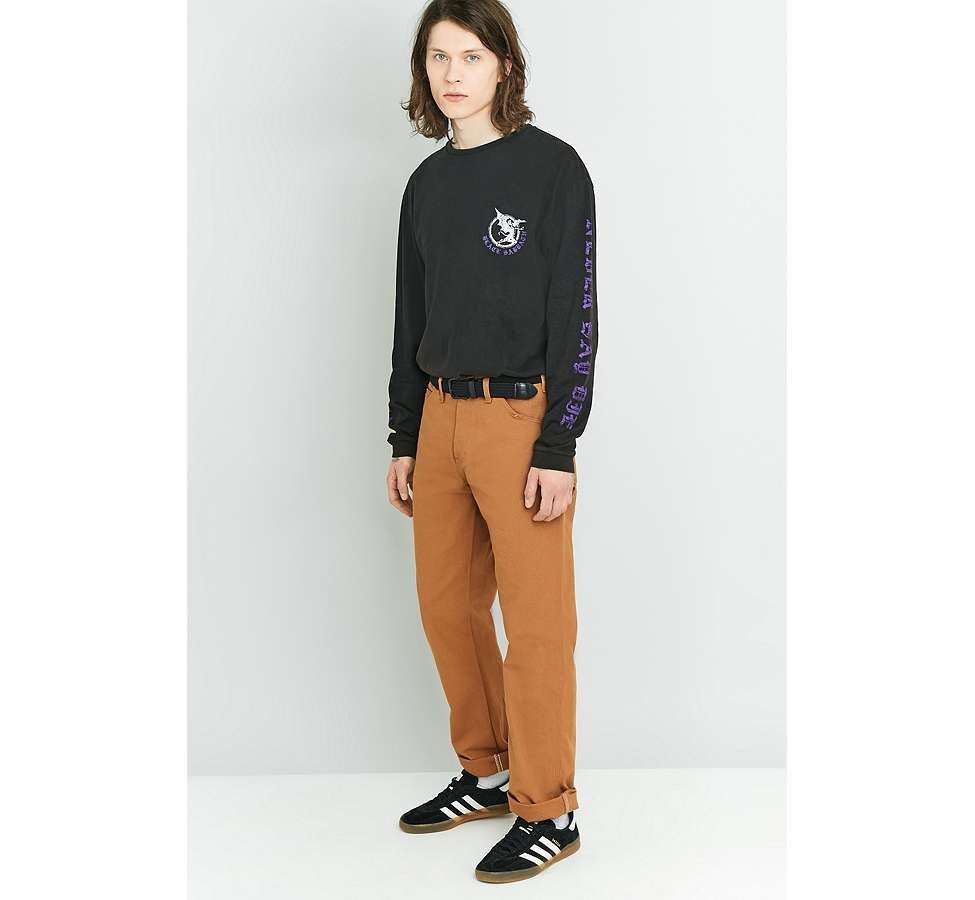 Slide View: 5: Dickies - Pantalon style charpentier marron canard