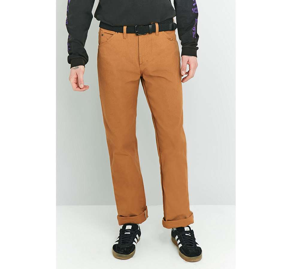 Slide View: 6: Dickies - Pantalon style charpentier marron canard