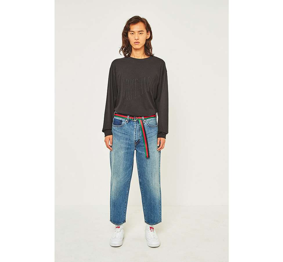 Slide View: 1: Levi's Altered Bow The Last Piece Cropped Jeans