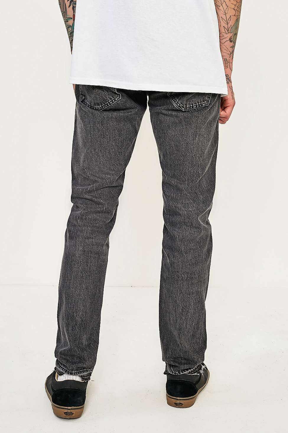 Levi's 511 Altered Spliced Black Slim Fit Jeans | Urban Outfitters
