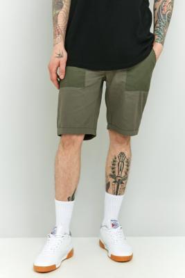 Billede af Native Youth Bamburgh Olive Patch Fatigue Shorts - Mens 30 W