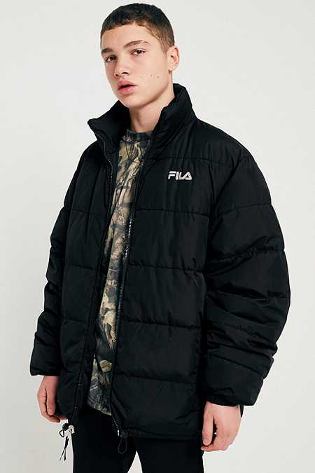 FILA Black Reversible Puffer Jacket