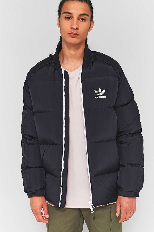 adidas SST Black Down Parka Jacket | Urban Outfitters