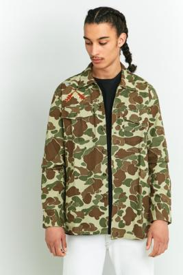 Levis Camo Military Shirt Jacket Khaki