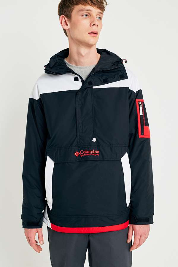 Columbia Challenger Black and Red Jacket | Urban Outfitters