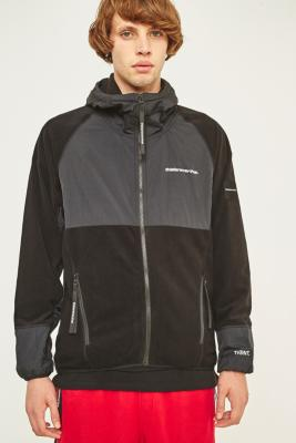 thisisneverthat SP-Fleece Black Jacket - Black S at Urban Outfitters