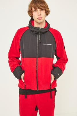 thisisneverthat Red and Black SP-Fleece Jacket - Red L at Urban Outfitters