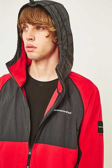 Slide View: 4: thisisneverthat Red and Black SP-Fleece Jacket