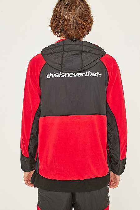Slide View: 5: thisisneverthat Red and Black SP-Fleece Jacket