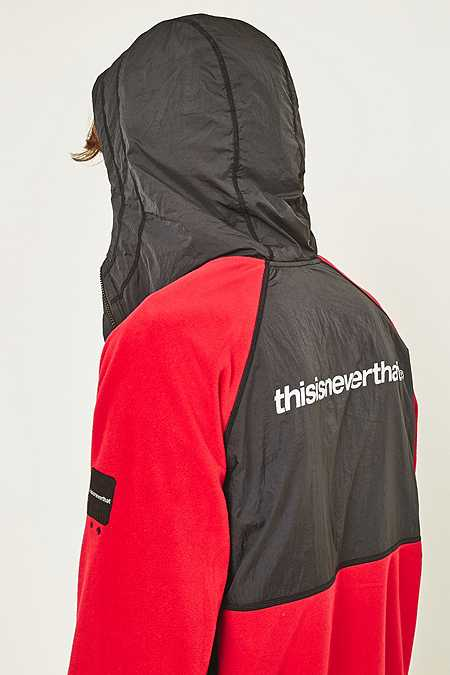 Slide View: 6: thisisneverthat Red and Black SP-Fleece Jacket