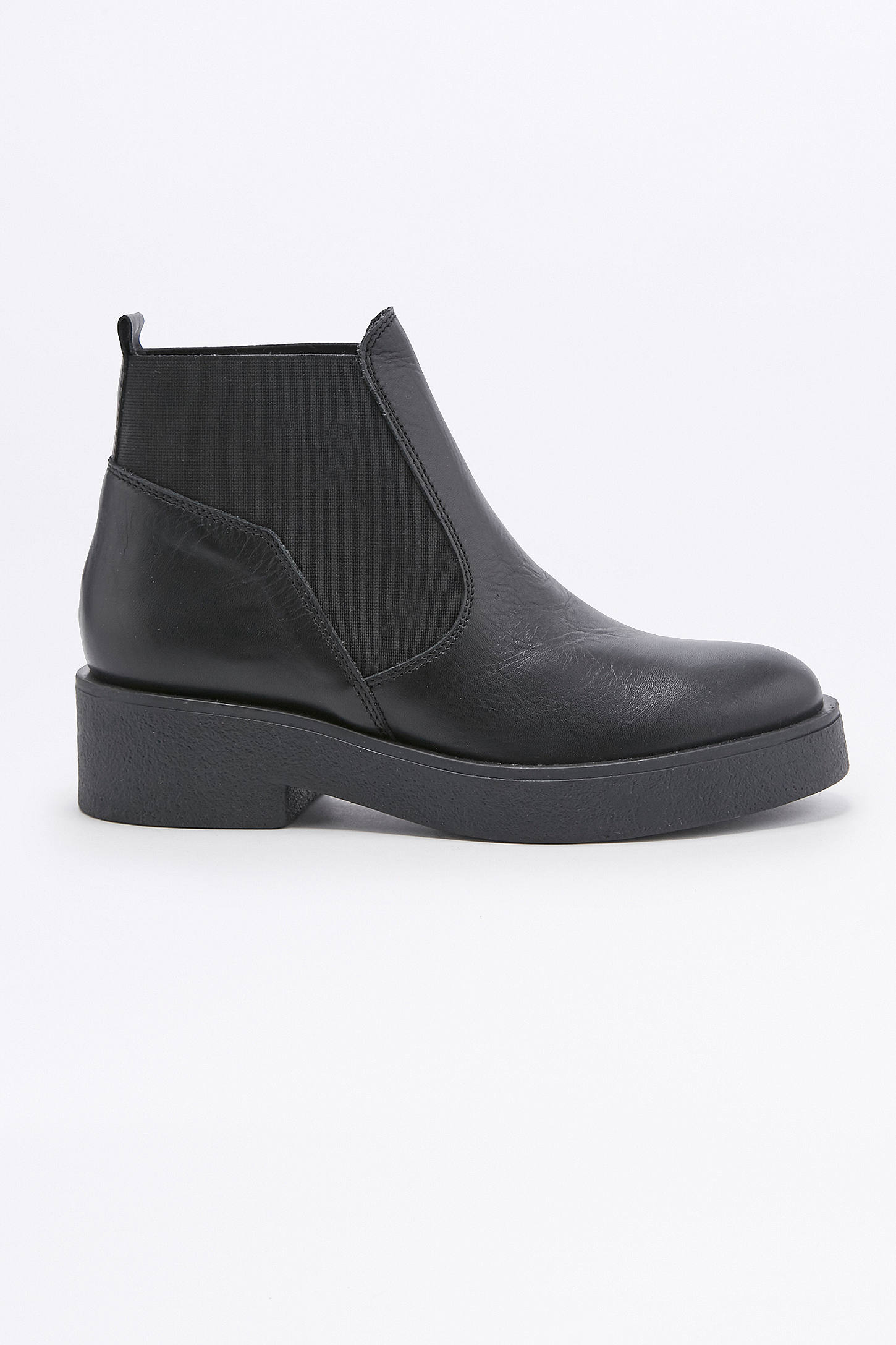 Nicola Black Leather Chelsea Ankle Boots | Urban Outfitters