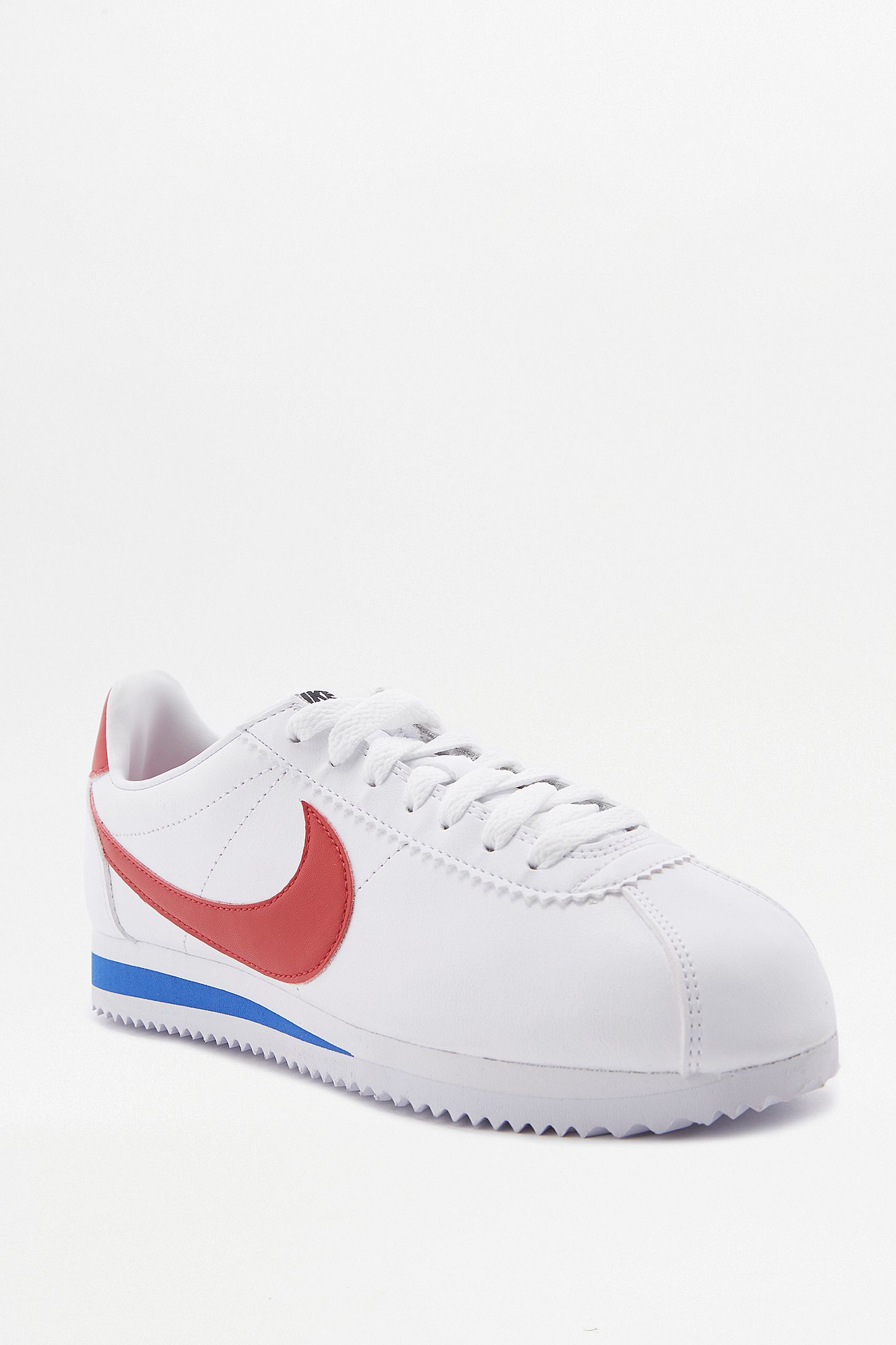 huge inventory be2cf f74b9 ... czech nike cortez white red and blue leather trainers. click on image  to zoom.