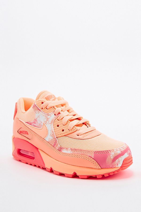 ... leather SE GS)  Nike Air Max 90 Printed Trainers in Coral ... d58ed0a4e