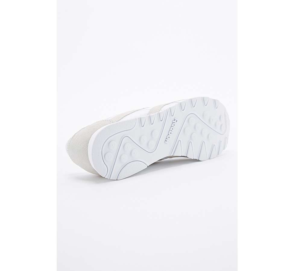 Slide View: 5: Reebok Classic White and Grey Nylon Trainers