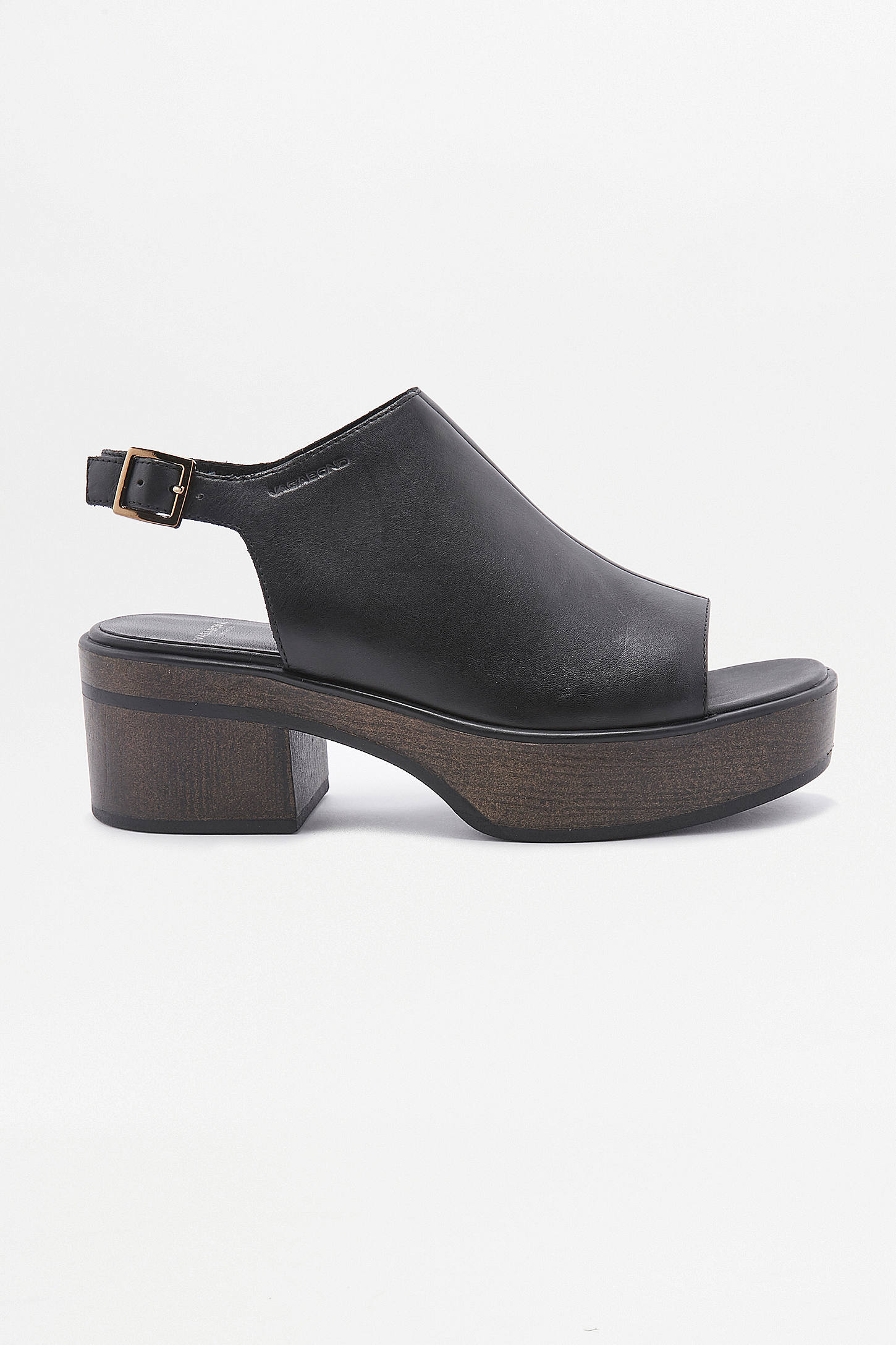 Black vagabond sandals - Slide View 2 Vagabond Noor Black Leather Platform Sandals
