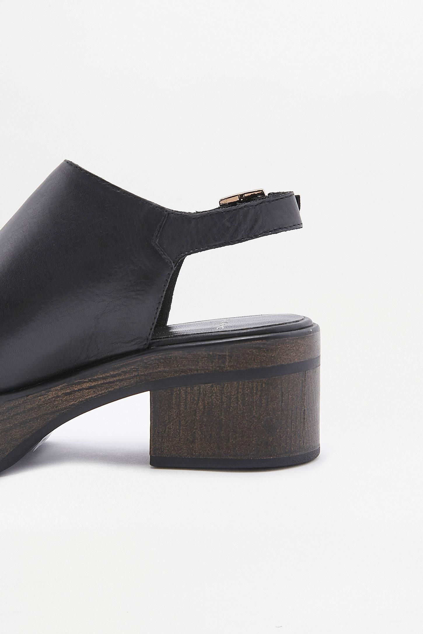 Black vagabond sandals - Slide View 4 Vagabond Noor Black Leather Platform Sandals