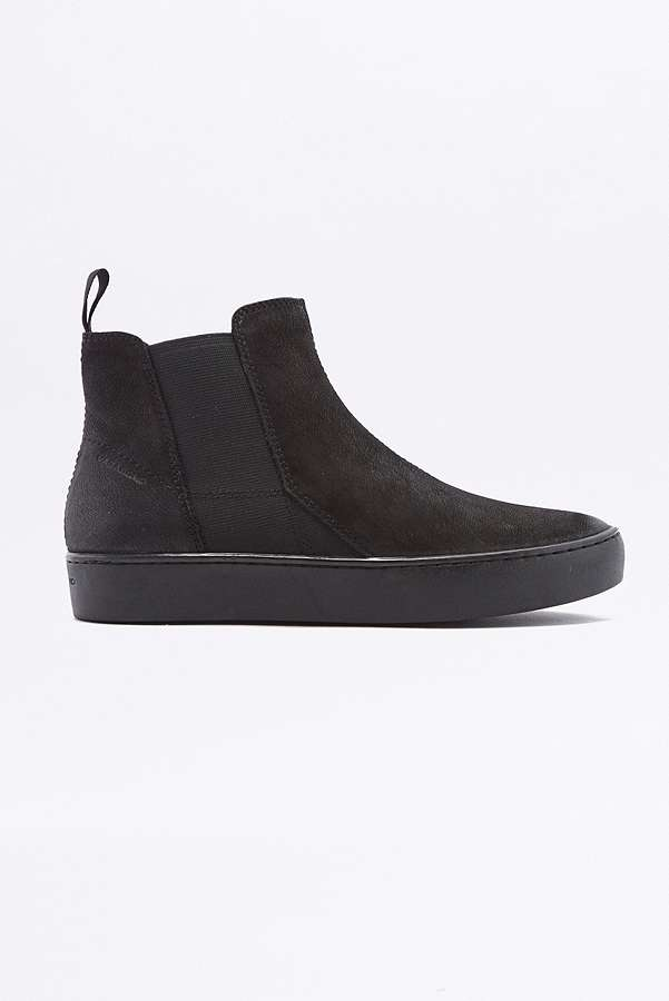 Slide View: 2: Vagabond Zoe All Black High Top Slip On Trainers