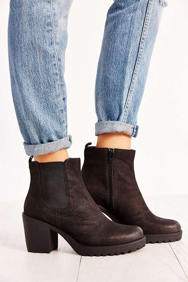 vagabond grace black nubuck chelsea ankle boots urban. Black Bedroom Furniture Sets. Home Design Ideas