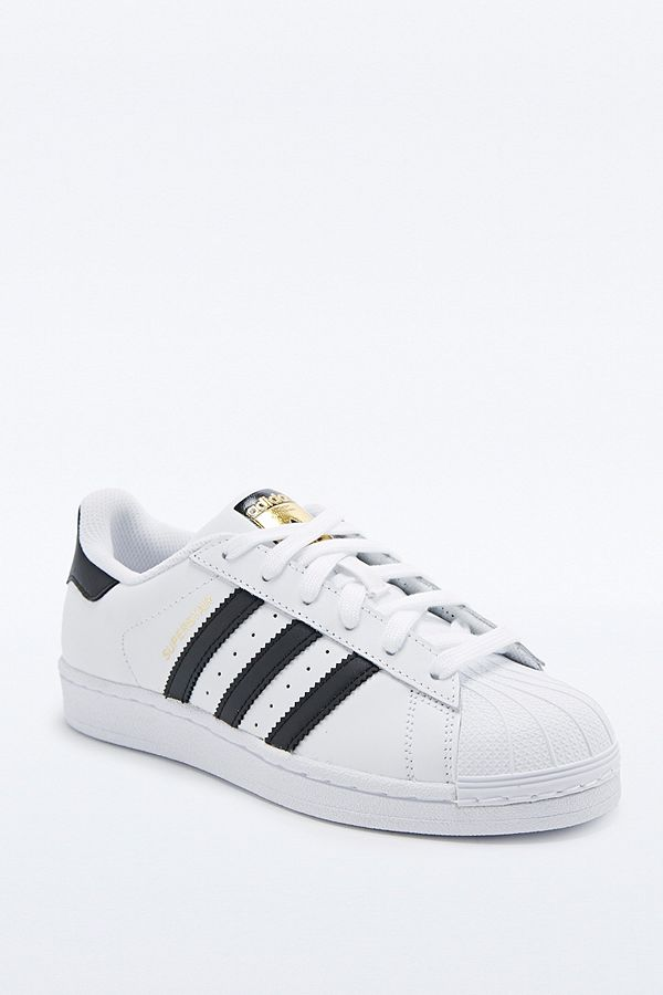 adidas Originals Superstar Shell Toe Hvid and Sort Trainers Trainers Sort 26eed3