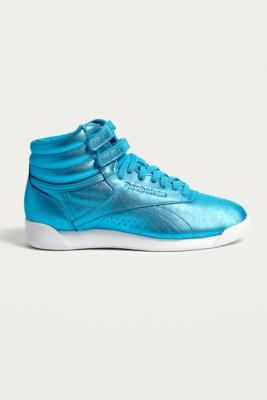 Reebok - Reebok Fitness Metallic Blue High Top Trainers, Sky