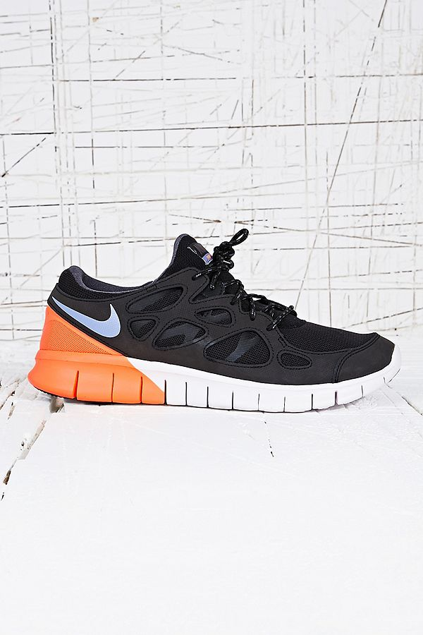 brand new 94f25 6660b ... free shipping your urban outfitters gallery. nike free run v2 trainers  in black white 6d693