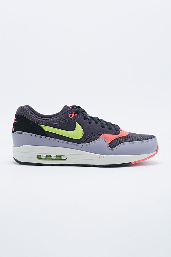 Nike - Baskets Air Max 1 Essential en cuir violet/gris