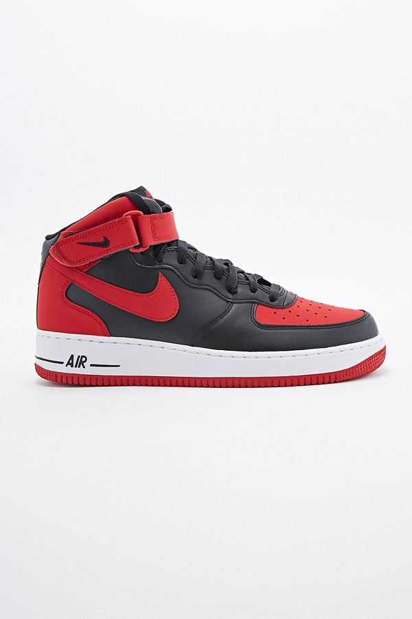 23f8d4a33b5 Nike Air Force 1 Mid Trainers in Gym Red