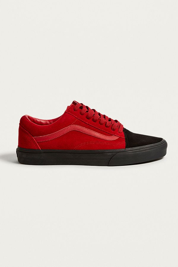 Vans Old Skool Suede Red and Black Trainers  59229b8b4