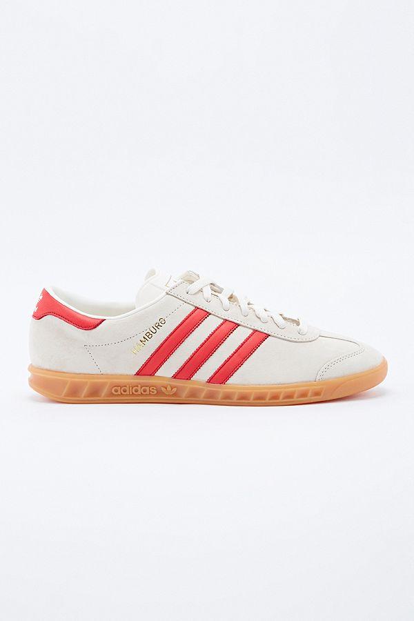 Adidas Originals - Baskets Hamburg craie et rouge