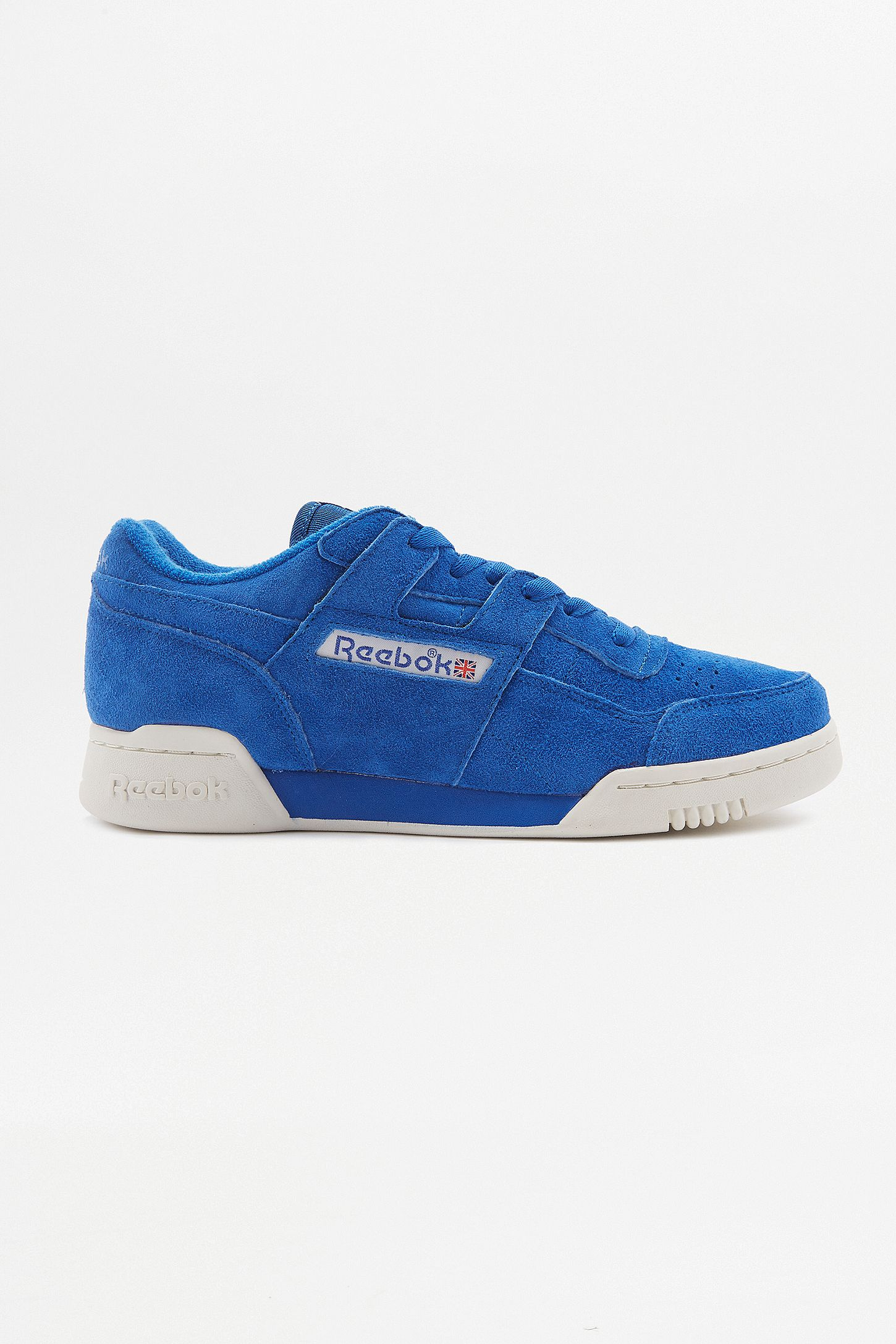 Reebok Workout Plus Vintage Awesome Blue Trainers. Click on image to zoom.  Hover to zoom. Double Tap to Zoom ad6e7586c